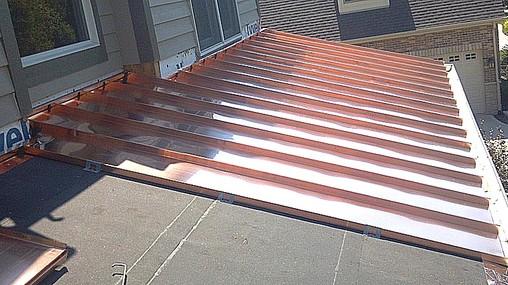 Standing seam metal roofs illinois custom copper for Copper standing seam roof