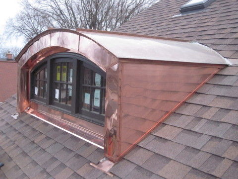 Dormers barrrel roofs fascia fasade illinois custom for Barrel dormer