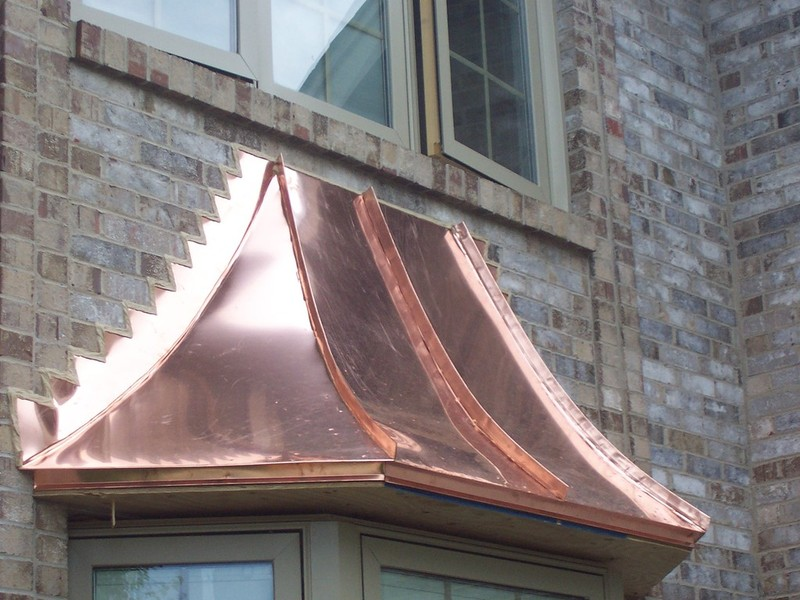 Copper Bay Windows Amp Flashing Work Illinois Custom Copper